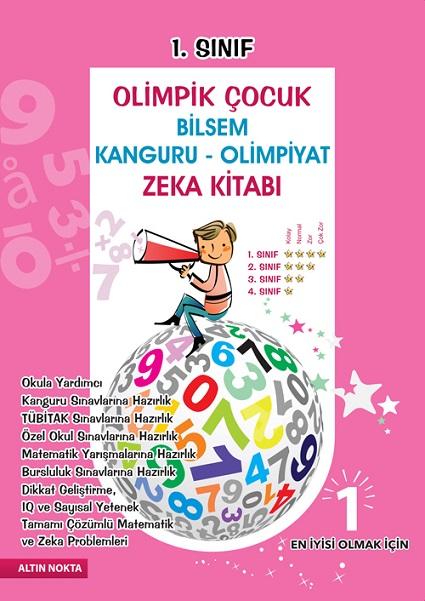 1. Sınıf Olimpik Çocuk Bilsem Kanguru Olimpiyat Zeka Kitabı