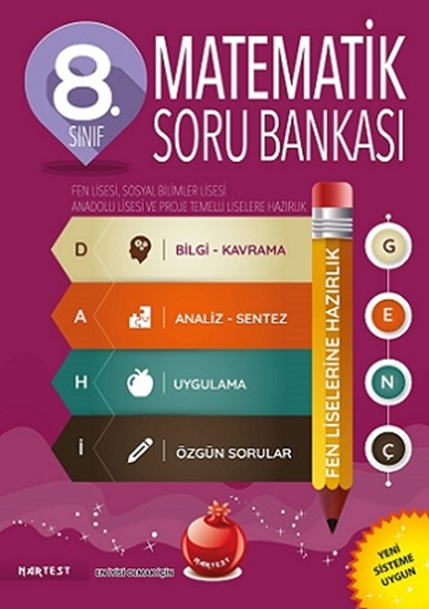 8. Sınıf Dahi Genç Matematik Soru Bankası Fen Liselerine Hazırlık
