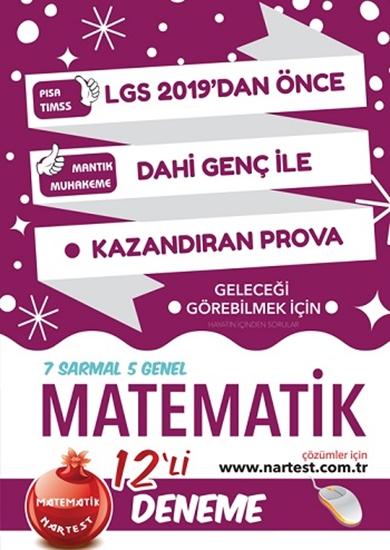 8. Sınıf Dahi Genç Matematik 12 Deneme Sınavı (7 Sarmal + 5 Genel) Web Çözümlü