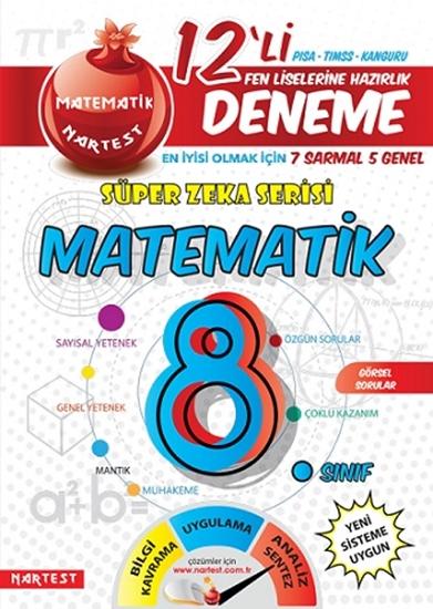 8. Sınıf Nar Matematik 12 Deneme Sınavı (7 Sarmal + 5 Genel)