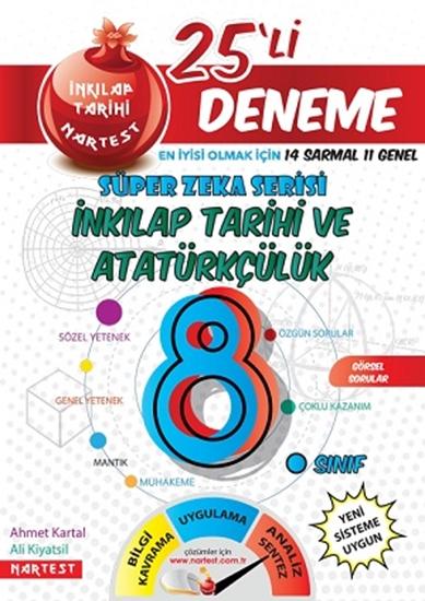 8. Sınıf Nar T.c. İnkılap Tarihi Ve Atatürkçülük 25 Deneme Sınavı (14 Sarmal + 10 Genel)