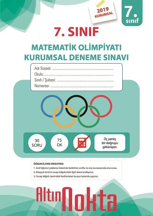 Resim 7. Sınıf Matematik Olimpiyatı Kurumsal Deneme Sınavı