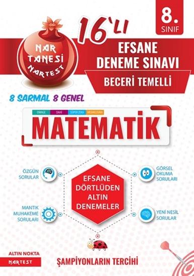 8. Sınıf Nar Tanesi Efsane Matematik 16 Deneme Sınavı