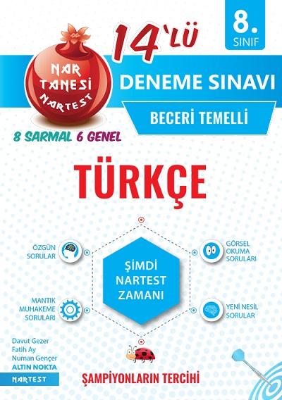8. Sınıf Nar Tanesi Türkçe 14 Deneme Sınavı