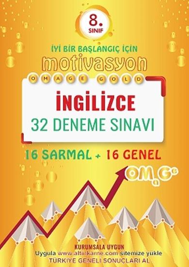8. Sınıf Omage Gold Motivasyon İngilizce 32 Deneme Sınavı (16 Sarmal + 16 Genel)