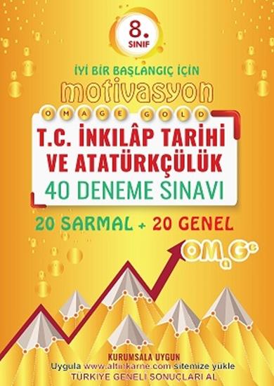 8. Sınıf Omage Gold Motivasyon T.c. İnkılap Tarihi Ve Atatürkçülük 40 Deneme Sınavı (20 Sarmal + 20 Genel)
