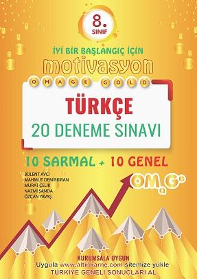 8. Sınıf Omage Gold Motivasyon Türkçe 20 Deneme Sınavı (10 Sarmal + 10 Genel)