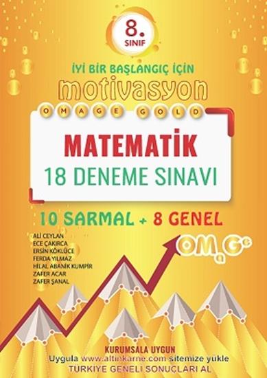 8. Sınıf Omage Gold Motivasyon Matematik 18 Deneme Sınavı (10 Sarmal + 8 Genel)
