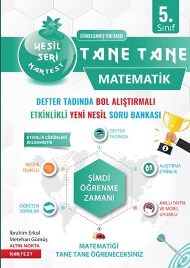 5. Sınıf Yeşil Defter Tadında Tane Tane Matematik 2021 (kolay-orta)